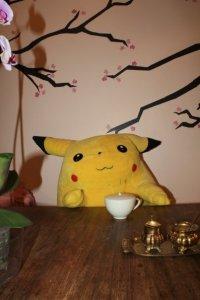Pikachu nauttii olostaan
