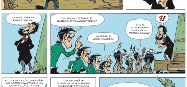 Lucky Luke valloittaa Pariisin!
