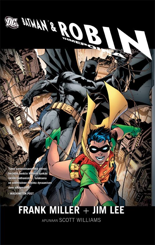 Batman ja ihmepoika Robin - uusi kovakantinen sarjakuva.
