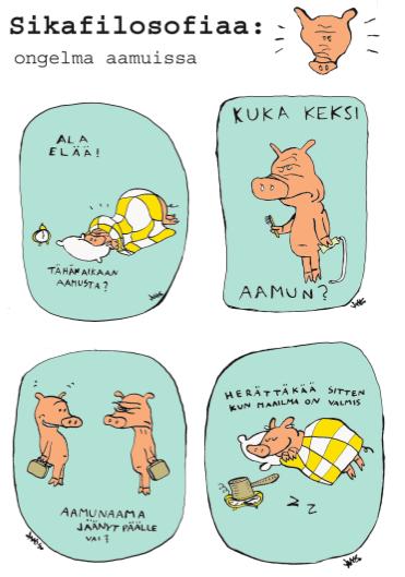 Sikafilosofiaa - Nemi-lehden sarjakuva