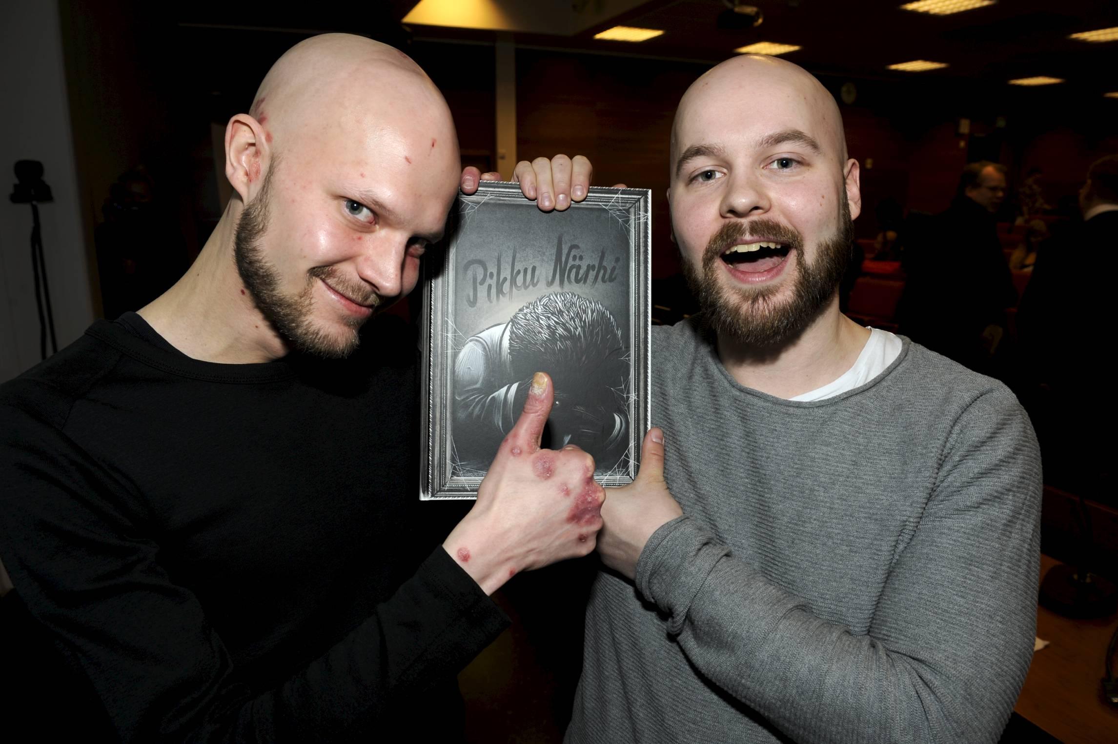 Onnelliset voittajat Jaakko ja Lauri!