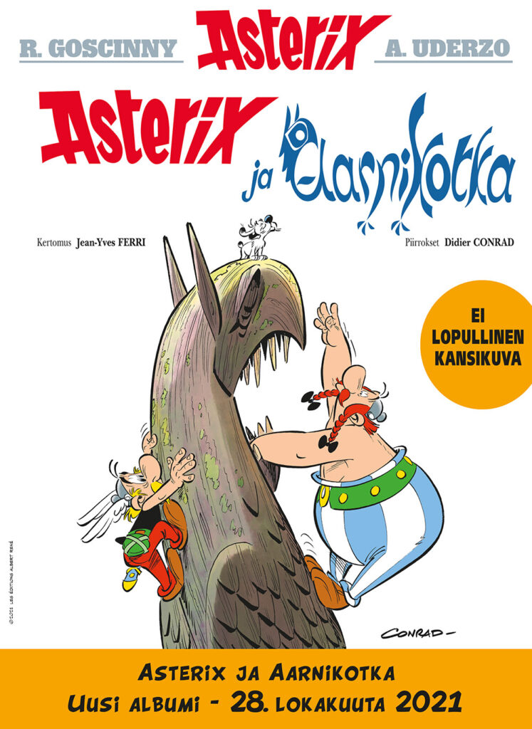 Asterix ja aarnikorka - ei lopullinen kansikuva